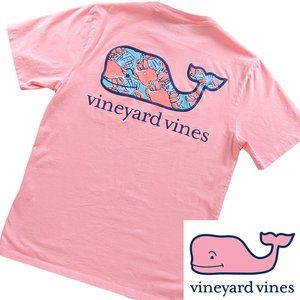 Vineyard Vines pocket tee flamingo Crab Fill Whale